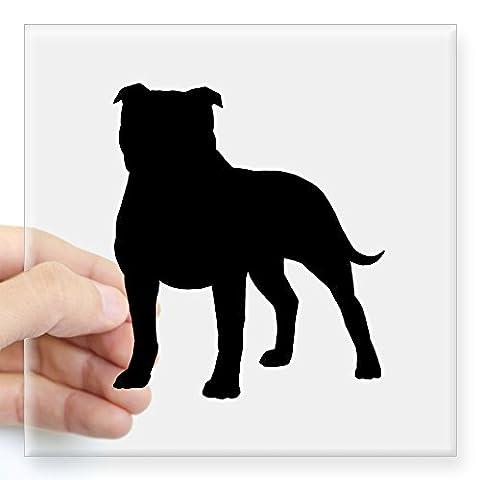 CafePress - Staffordshire Bull Terrier Square Sticker 3