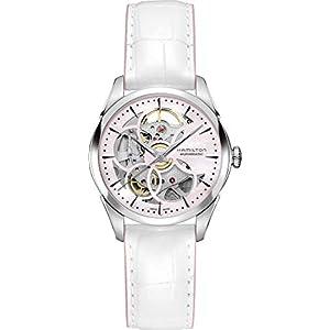 Hamilton Reloj de Mujer automático 36mm Correa de Cuero Color Blanco H32405871