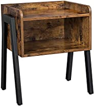 VASAGLE ALINRU Nightstand, Stackable End Table, Side Table for Small Spaces, Storage Compartment, Industrial A