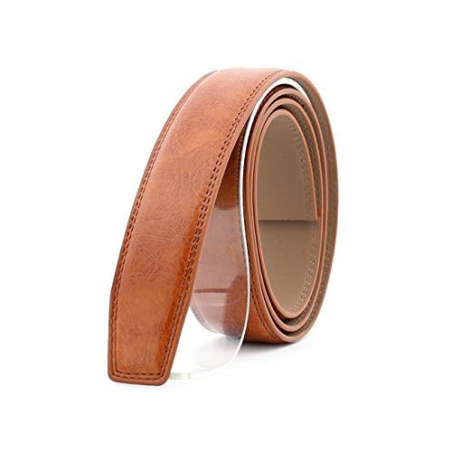 Ives Jean 3.5Cm Hombres Cinturones de cuero Sin hebilla Automático Harajuku Cinturón Correa para el cuerpo Cinturones Cinturones Hombre Negro Marrón Marrón Cinturón Cuerpo 3.110Cm