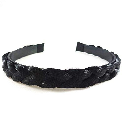rougecaramel - Accessoires cheveux - Serre tête/headband tressé cheveux large - noir