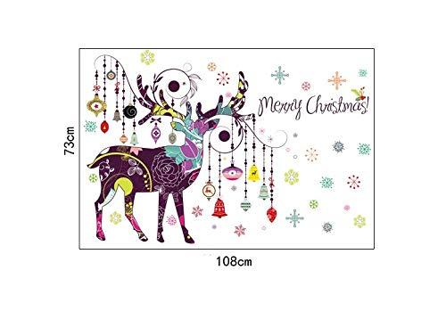 Wallfia elch Laterne Weihnachten Wandaufkleber kunst aufkleber wohnzimmer küche esszimmer kinderzimmer vinyl dekoration diy wandbild familie zu hause aufkleber