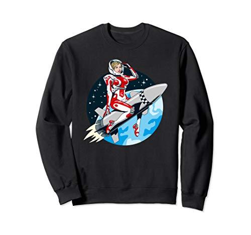 Girl Kostüm Retro Pin Up - Weinlese Pin Up Girl Der Weltraum Sweatshirt