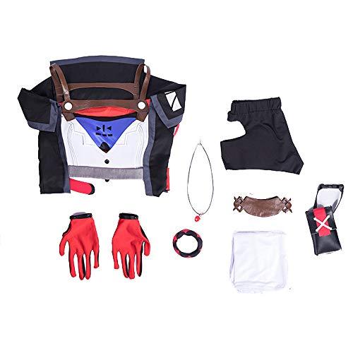 Glam Cos Honkai Impact 3. - Kallen Kaslana weibliches Cosplay-Kostüm - Sin Hunter Battlesuit - Weiß - Large