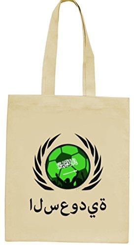 Wappen Fussball WM Fanfest Gruppen natur Jutebeutel Stoffbeutel Tote Bag Fußball Saudi-Arabien Natur