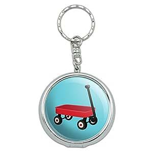 Portable Travel Größe Pocket Geldbörse Aschenbecher Schlüsselanhänger Places und Dinge Little Red Wagon