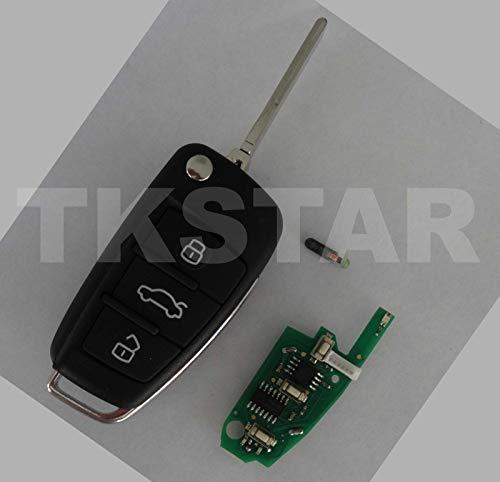 TK STAR 3 Tasten ID48 Fernbedienung Funk Auto Schlüssel 434Mhz inkl   Transponder paßt für 8P0837220D Audi A3 Sportback Cabriolet