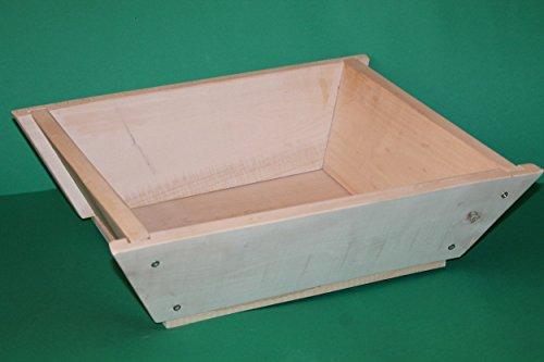 Contenitore in legno faggio Maidda Siciliana per impastare la farina Vasca Madia (60x40x15 cm)