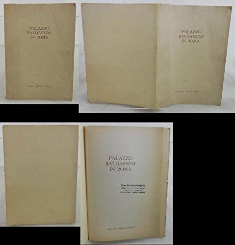 V0428 LIBRO PALAZZO BALDASSINI IN ROMA DI RENZO U. MONTINI DEL 1956