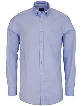 CASAMODA Comfort Fit Hemd extra langer Arm mit Besatz aqua AL 69
