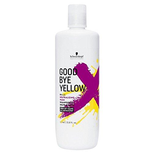 Schwarzkopf Goodbye Yellow Shampoo 1000 ml Neutralisiert jeden Gelbstich - für die kühlsten Blondtöne