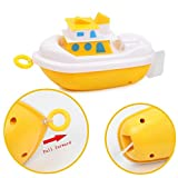 Baby Bath Toys, SHOBDW 1PC Kids Funny Bathing Wash Play Cute Cartoon Pull Educational Toys (Boat)
