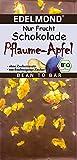 Bio Nur Frucht Pfaume und Apfel Edelmond Schokolade - Ohne zugesetzten Zucker (1 Tafel)