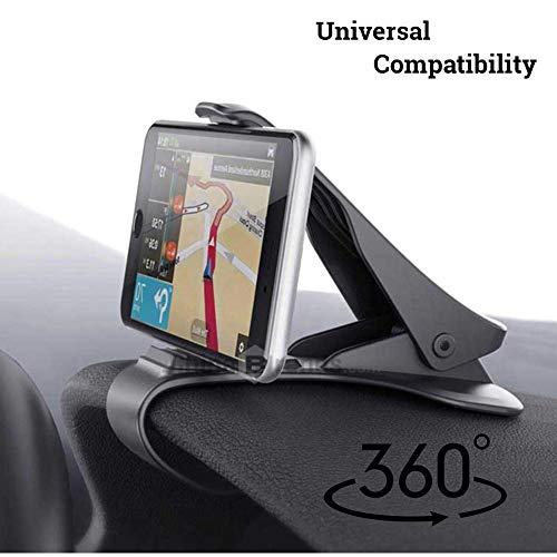 ClipGrip 360° Handy-Kfz-Halterung, drehbar, Armaturenbrett, universal, Smartphone KFZ-Halterung, Handy-Clip, HUD-Design, kompatibel für alle Smartphones, GPS und mehr Odyssey Mobile Gps
