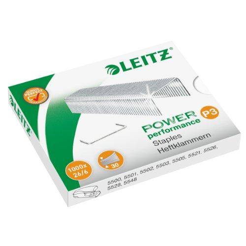 Leitz 55720000 Power Performance P3 Heftklammern 1000 Stück (Heftklammern Hefter)