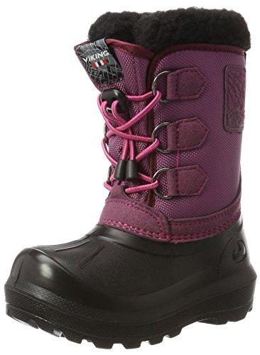 Viking Unisex-Kinder Istind Schneestiefel, Pink (Dark Pink/Black), 25 EU