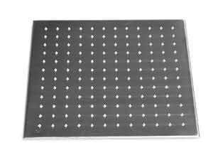 Inox Pommeau de douche pluie carré 500x500mm en acier inoxydable Fixation au plafond 4x
