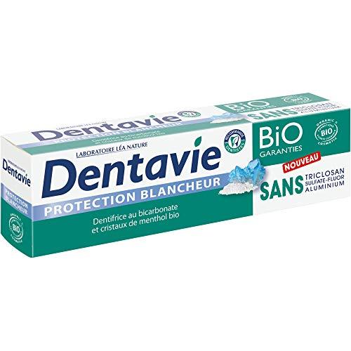 DENTAVIE Dentifrice Soin Blancheur Bicarbonate/Cristaux de Menthol Bio