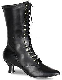ba263d5d8e7d6e Funtasma - VICTORIAN-120 - Karneval Fasching Halloween Kostüm Schuhe Damen  Renaissance-Stiefel