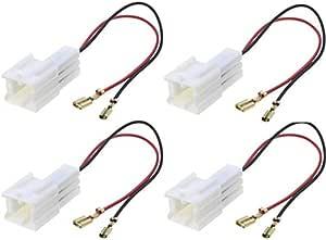 Sound Way 4 X Adapterkabel Für Lautsprecher Kompatibel Mit Dacia Nissan Auto