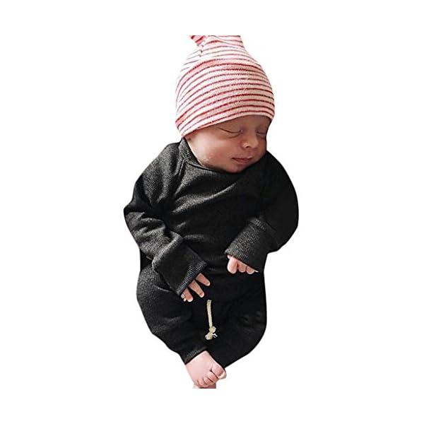 MAYOGO Ropa para bebés Conjunto, Tops Camiseta Manga Largo + Pantalones Largos Color sólido Ropa Bebe Recien Nacido… 4