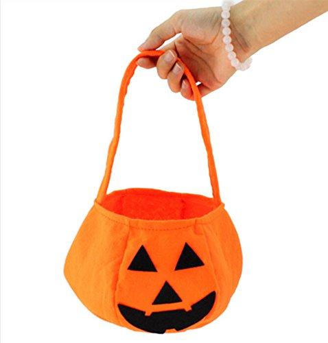 een-Kürbis Tragbare Tasche Kids Festival Geschenk (Machen Sie Halloween-süßigkeiten-taschen)