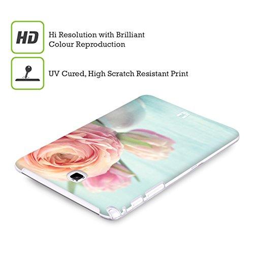 Head Case Designs Bamboo Floreale Lacche Cover Morbida In Gel Per Apple iPhone 7 Plus / 8 Plus Rose Color Pesca In Un Vaso