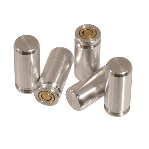 Waffenpflegewelt.de Pufferpatronen 9 mm P.A.K. (Schreckschusspistole) aus Aluminium (1er Packung oder 5er Packung) (5 Stück) (9mm Platzpatronen)