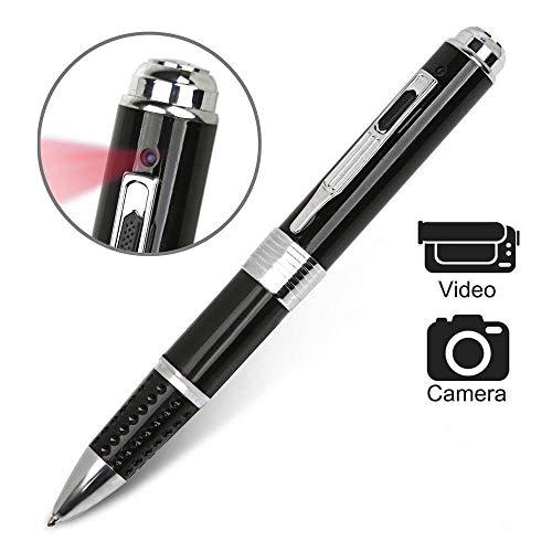 QYLJX Spy Pen Kamera, HD 1080P Spy Gadget versteckte Videokamera, professionelle Stealth versteckte Kamera Executive Pen, Plug Play für PC/Mac (Schwarz)