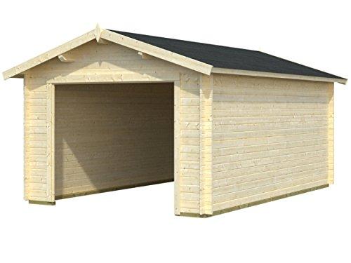 Box Häuschen von Holz Gartenhaus aus Holz Tannenzweig (34mm)–cm 350x...