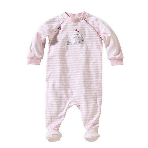 BORNINO Schlafoverall Baby-Nachtwäsche Baby-Schlafanzug, Größe 74/80, rosa