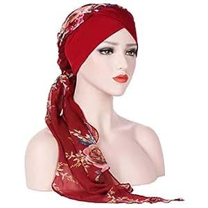 moonuy boh me femmes musulman stretch turban chapeau chemo cap perte de cheveux charpe t te. Black Bedroom Furniture Sets. Home Design Ideas