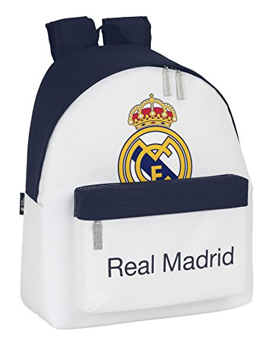 Real Madrid – Mochila, color blanco (Safta 641428774)