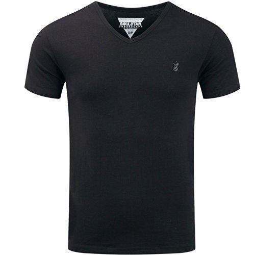 SoulStar Herren T-Shirt Schwarz - Schwarz