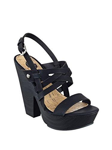 G By Guess Saint Femmes Simili daim Sandales Black