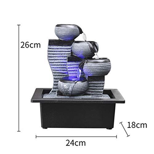 Dmzyzz 4-tier waterfall fontana da interno, interno portatile zen desktop fontana decorazione,24x26x18cm