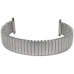 Eulit Flexband Zugband watch strap stainless Steel Titanoptik 14mm-16mm 76-420002