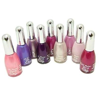 La Femme Nail Polish Set Of 9, Pink/Purple Colours.
