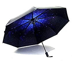 Compact Sun&Rain Travel Umbrella - Lightweight Portable UPF> 50 Parasol Mini Totes Umbrella with 99% UV Protection, 8-Ribs Waterproof Windproof 210T Fabric Canopy - Outdoor Folding Golf Umbrella