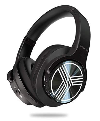 Auricolari Supremi senza fili Bluetooth Comodo come una nuvola Altoparlanti 40 mm al neodimio Microfono per Ufficio TREBLAB Z2 Suono aptX impeccabile Cancellazione Rumori T-Quiet Attivo