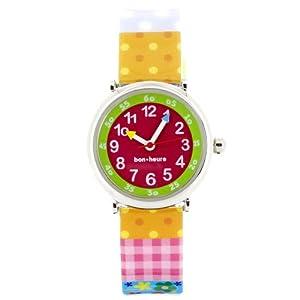 Baby Watch Kinder-Armbanduhr Analog Quarz Mehrfarbig Coffret Butterfly