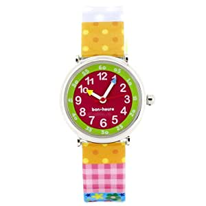 Baby Watch - Coffret Butterfly - Montre Fille - Montre Pédagogique 4-7 ans - Cadran Rouge - Bracelet Plastique Multicolore