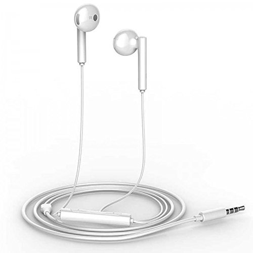 Huawei custodia inear stereo headset con risposta chiamata e microfono in bianco per huawei telefoni cellulari compatibili con attacco jack da 3,5 mm