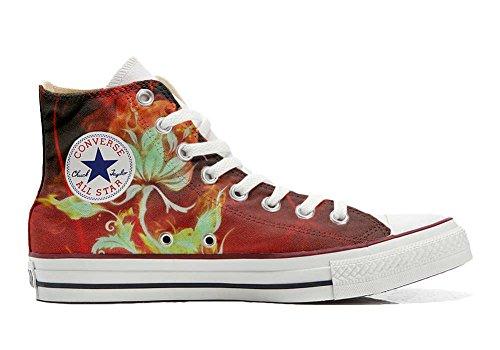 Converse Customized Adulte - chaussures coutume (produit artisanal) fleur
