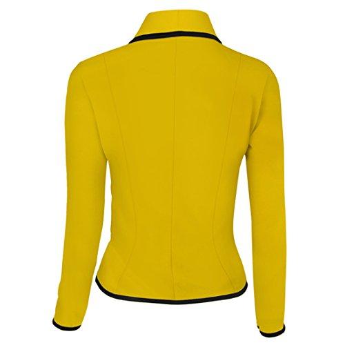 Aisuper - Giacca da abito - Maniche lunghe  -  donna Yellow