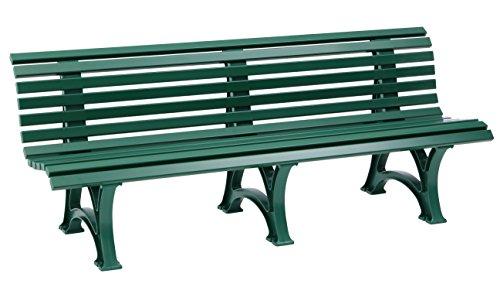 Parkbank Borkum grün Blome 4-Sitzer