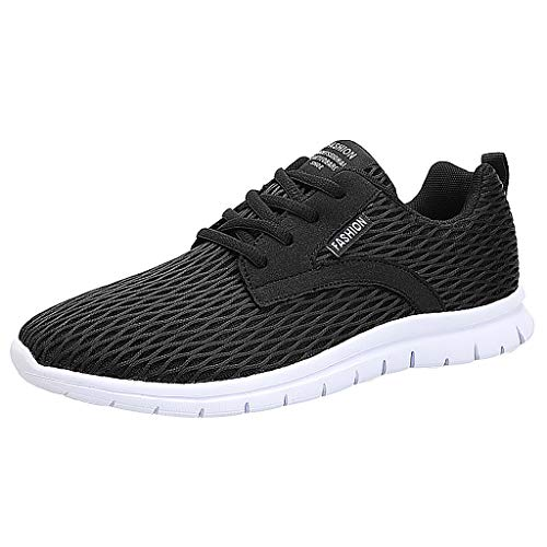 KERULA Sneakers, Fashion Lace up Sports Running Casual Breathable Sneakers Solid Shoes All Star Comfy Mesh-Comfortable Work Low Top Walking füR Damen & Herren - Mens Steel Toe Work Oxford