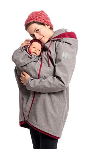 softshell 3 in 1 umstandsmantel mit babyeinsatz