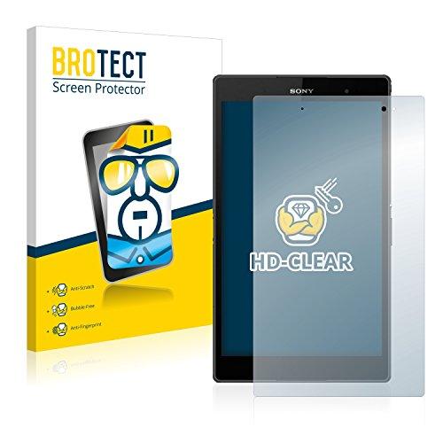 BROTECT Schutzfolie kompatibel mit Sony Xperia Z3 Tablet Compact SGP611, SGP612 [2er Pack] klare Bildschirmschutz-Folie