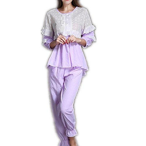 GJX Ladies accogliente morbido pigiama lungo PJs Set regalo & Womens Nightwear Bottoms , purple , 165 (l)